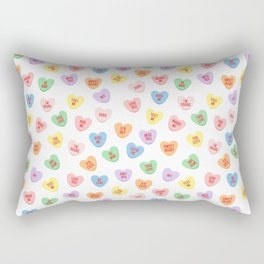 Conversation Hearts Rectangular Pillow