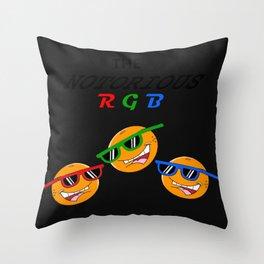 Notorious RGB Throw Pillow