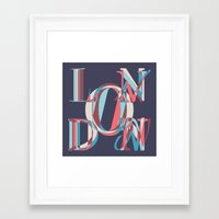 london Framed Art Prints featuring London by Fimbis