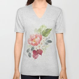 Watercolor Radish Bouquet Unisex V-Neck