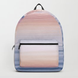 Pastel ripples sea and sky Backpack