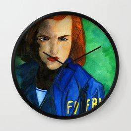 Agent Scully FBI Wall Clock