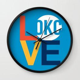 OKC Thunder LOVE Blue Wall Clock