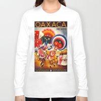mexico Long Sleeve T-shirts featuring MEXICO by Kathead Tarot/David Rivera