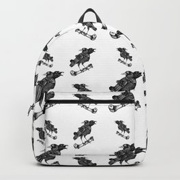 Two headed crow & Bone illustration Backpack