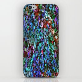 Blue Squared Vortex iPhone Skin