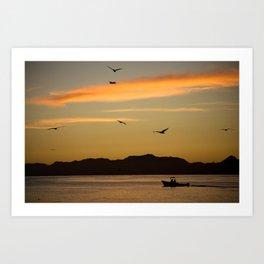 Californian Sunrise Art Print