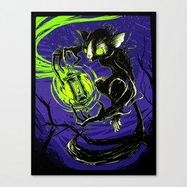 Spectral Aye-Aye Canvas Print