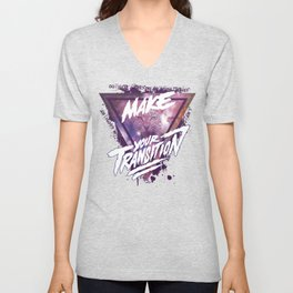 Make your transition (purple) Unisex V-Neck