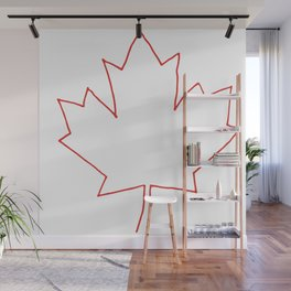 One line Canada Wall Mural