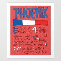 Collage Series V: Phoenix Art Print