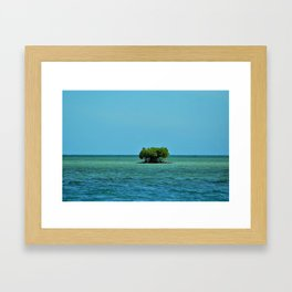 Tree Island Framed Art Print