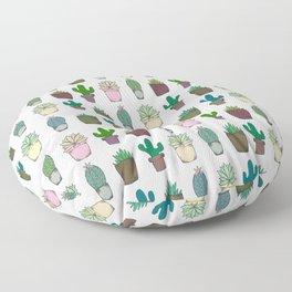 Succulent Pattern Floor Pillow