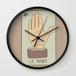 La Mano Card Wall Clock