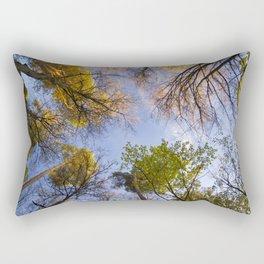 Autumn Forest Bottom View Rectangular Pillow