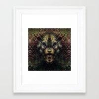 beast Framed Art Prints featuring Beast by Zandonai