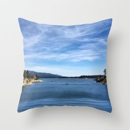 Big Bear Lake Throw Pillow