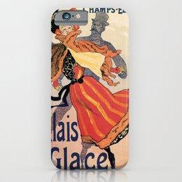 Vintage Ice skating palace Paris iPhone Case