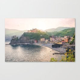 An Evening In Cinque Terre - Monterosso Canvas Print