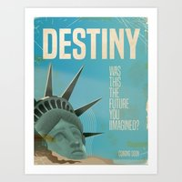 planet of the apes Art Prints featuring Destiny Statue of Liberty  by Nick's Emporium