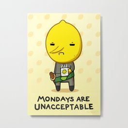 Yay Monday, Lemongrab Metal Print