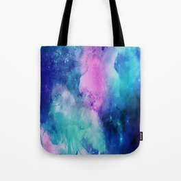 Universe Watercolor - Blueish Nebula Tote Bag
