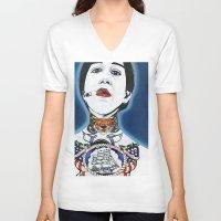 lydia martin V-neck T-shirts featuring Lydia by Skull Car Steveo