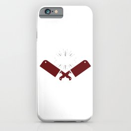 Awesome Culinary Gangster Chef Knife Skills  iPhone Case