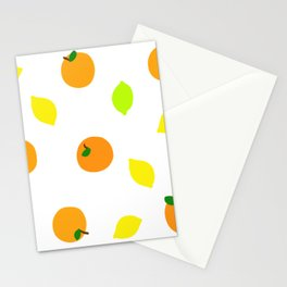 Citrus with Yellow, Orange and Green Oranges, Lemons and Limes Stationery Cards