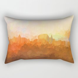 Augusta,Maine Skyline - In the Clouds Rectangular Pillow