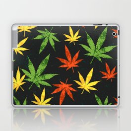 Cannabis. Grunge pattern Laptop & iPad Skin