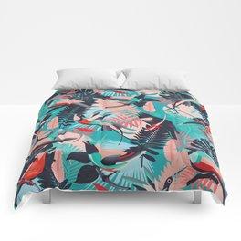 Paradise Birds / Bold Tropicalia Comforters