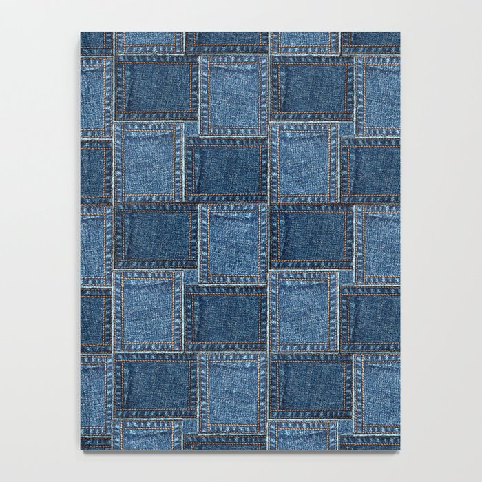Denim Patch Notebook