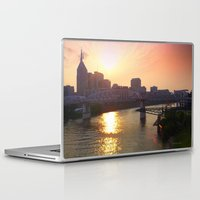 nashville Laptop & iPad Skins featuring Nashville Dusk by Andooga Design