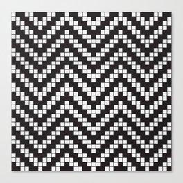 Herringbone Weave Seamless Pattern. Canvas Print