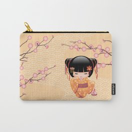 Japanese Ume Kokeshi Doll Carry-All Pouch