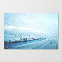 iceland Canvas Prints featuring Iceland by Inga Ink Art