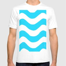 wwaavveess MEDIUM Mens Fitted Tee White