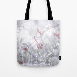 Winter Scene Rowan Berries With Snow And Bokeh #decor #buyart #society6 Tote Bag