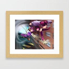 Alisa Vs Juri Framed Art Print