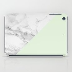Marble + Pastel Green iPad Case