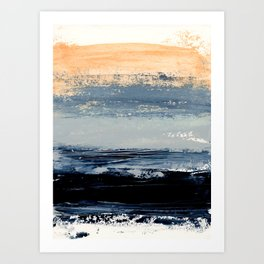 abstract minimalist landscape 5 Art Print