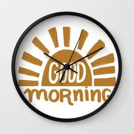 Good Morning Yellow Sun Wall Clock