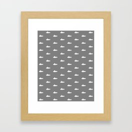 Tiny Subs - Gray Framed Art Print
