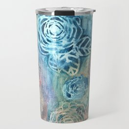 Stenciled Rose Travel Mug