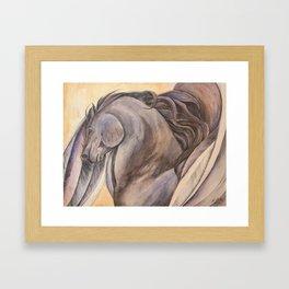 Raven Pegasus Framed Art Print