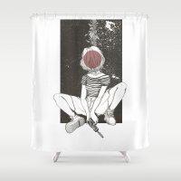 kill la kill Shower Curtains featuring Kill Girl by Marie Toh
