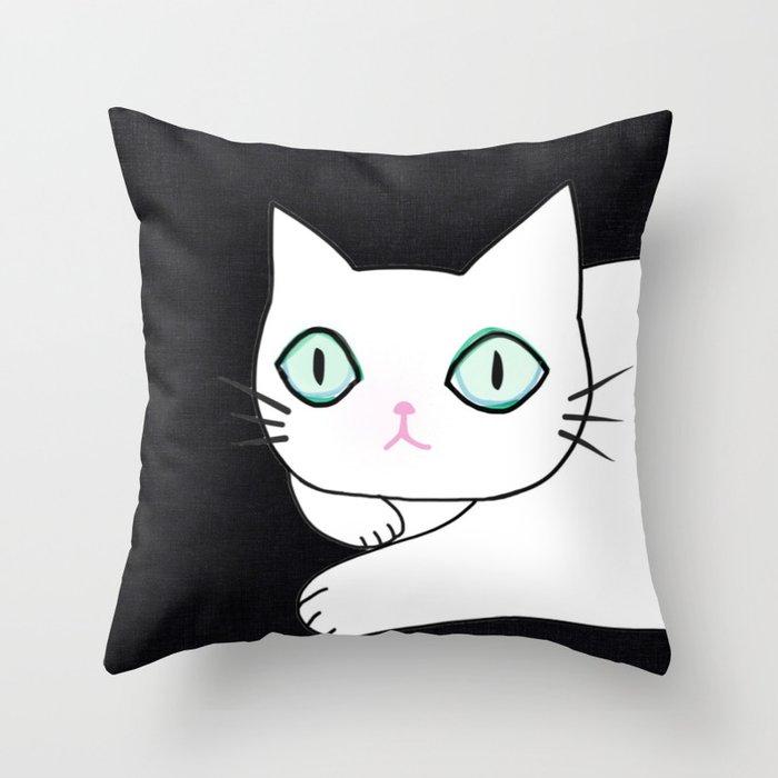 cat 596 Throw Pillow