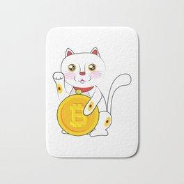 Bitcoin Neko Cat Cool Bath Mat