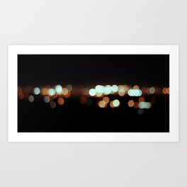 IMOLA BY NIGHT IF YOU WERE MYOPIC LIKE ME. Art Print